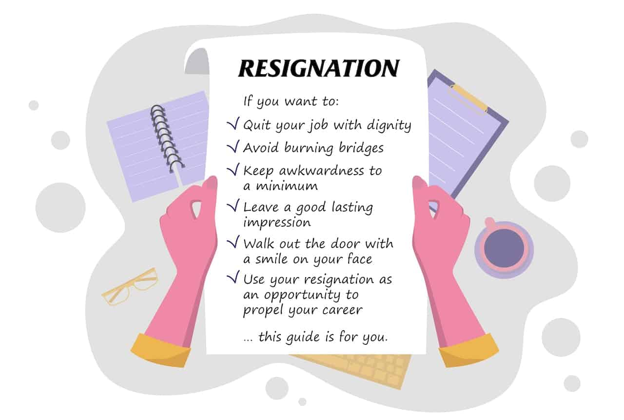 List of tips on how to write a short notice resignation letter with templates